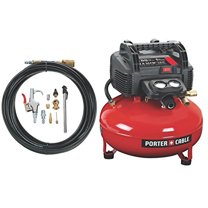 5. PORTER-CABLE C2002-WK Oil-Free UMC Pancake Compressor with 13-Piece Accessory Kit