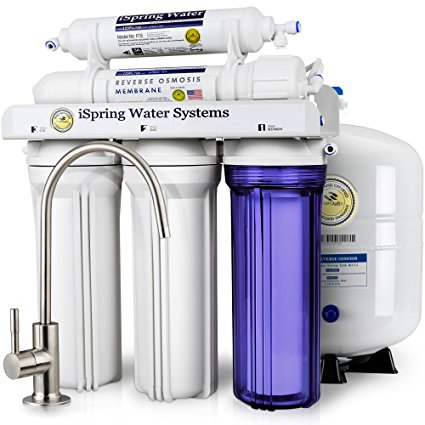 1. iSpring RCC7 High Capacity Under Sink 5-Stage Reverse Osmosis Drinking Water Filtration System