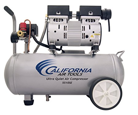 7. California Air Tools 5510SE Ultra Quiet and Oil-Free 1.0-HP 5.5-Gallon Steel Tank Air Compressor
