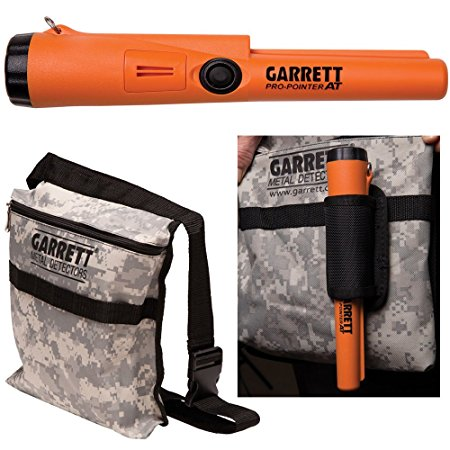 9. Garrett Pro Pointer AT Metal Detector Waterproof ProPointer with Garrett Camo Pouch
