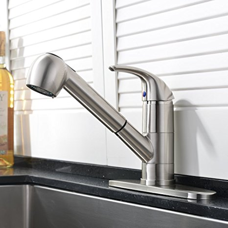 2. Ufaucet Commercial Stainless Steel Single Lever