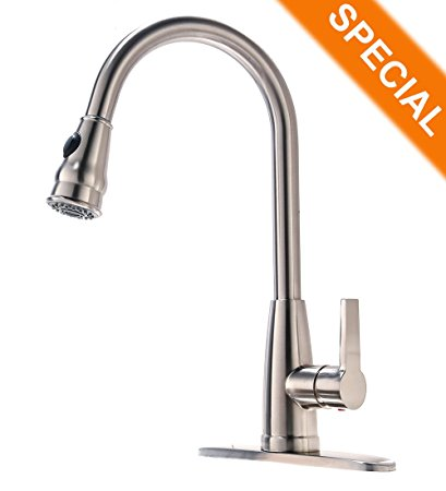 8. Commercial Brushed Nickel Stainless Steel Single Handle