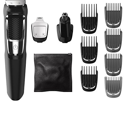 3. Philips Norelco Multigroom series 3000, 13 Attachments, MG3750