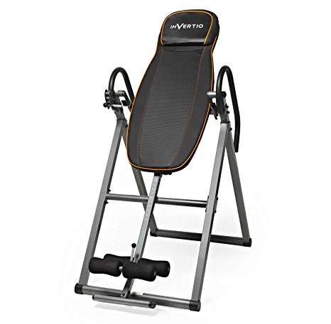 7. Invertio Adjustable Folding Inversion Table w/ Padded Backrest for Back Fitness Therapy Relief