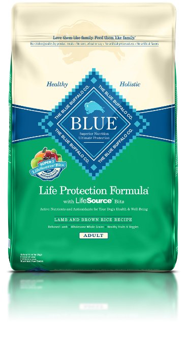3. BLUE Life Protection Formula Adult Dry Dog Food - Lamb and Brown Rice