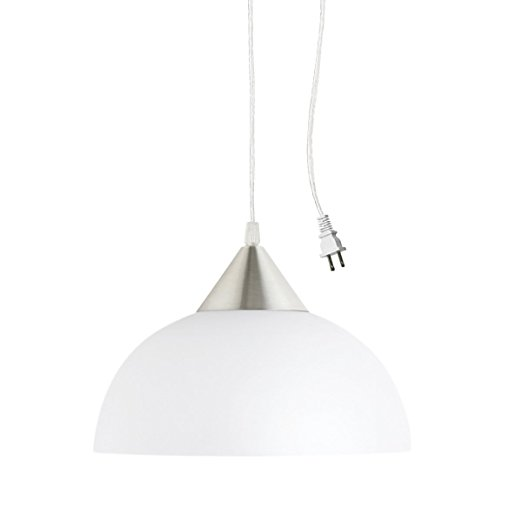 1. Globe Electric 64413 Plug-In Hanging Pendant,
