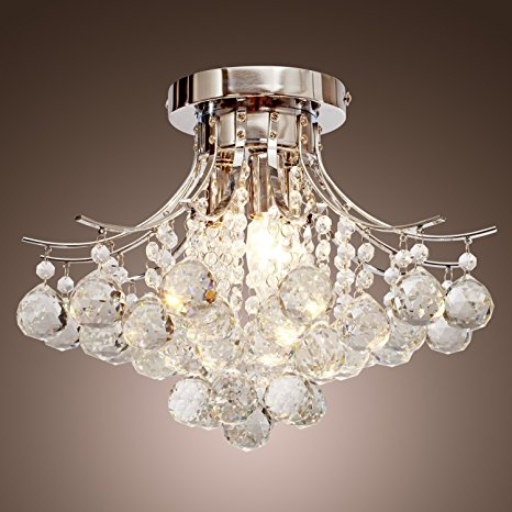 8. LOCO® Chrome Finish Crystal Chandelier