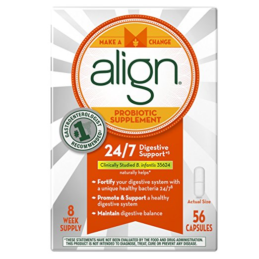7. Align Probiotic Supplement 56 count