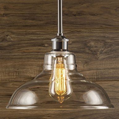 8. Lucera Stem Mount Factory Pendant Light