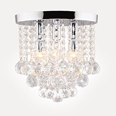 2. Surpars House Crystal Chandelier,