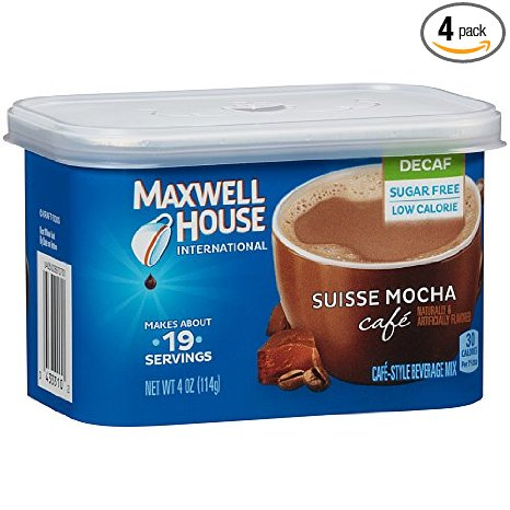 6. Maxwell House International Café Flavored Instant Coffee