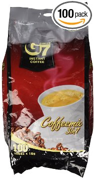 8. G7 3-in-1 Instant Premium Vietnamese Coffee, 100 Servings/Sachets