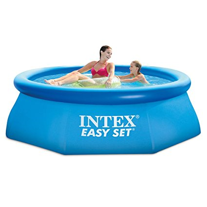 6. Intex 8ft X 30in Easy Set Pool Set with Filter Pump