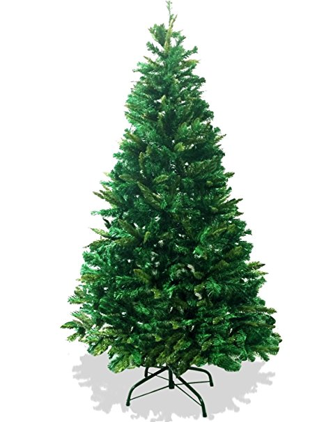 9. LavoHome 6-Feet 1200 Tip Branch Canadian Pine Frasier Fir Green Artificial Christmas Tree