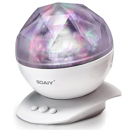 8. SOAIY Rotation Sleep Soothing Colour Changing Aurora Light Projector