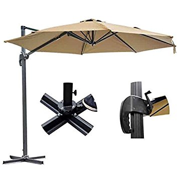 10. KOVAL INL 10ft patio cantilever offset umbrella