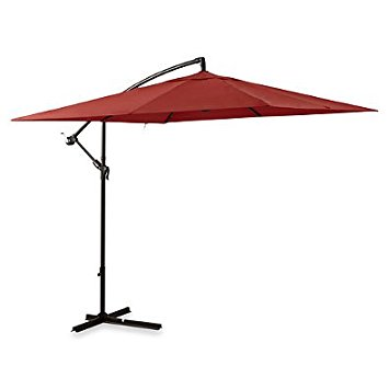 9. Foot square cantilever umbrella