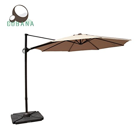 5. COBANA octagon cantilever patio umbrella