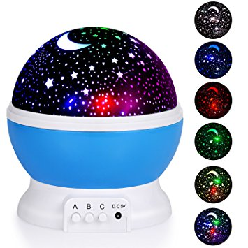 10. Adoric Night Lighting Lamp, Star Light Rotating Projector