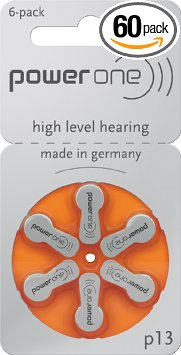 8. Power One p13 Hearing Aid Battery
