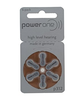 10. Power One p312 Hearing Aid Battery