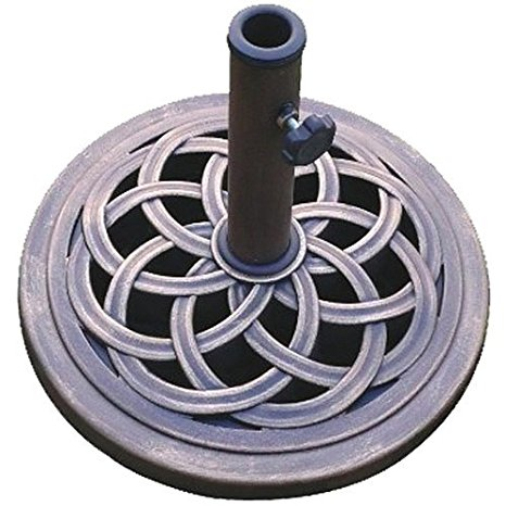 1. DC America UBP18181-BR 18-Inch Cast Stone Umbrella Base