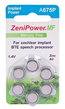 1. Zenipower Cochlear Implant Hearing Aid Battery