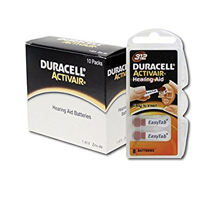 6. Duracell Activair Hearing Aid Battery