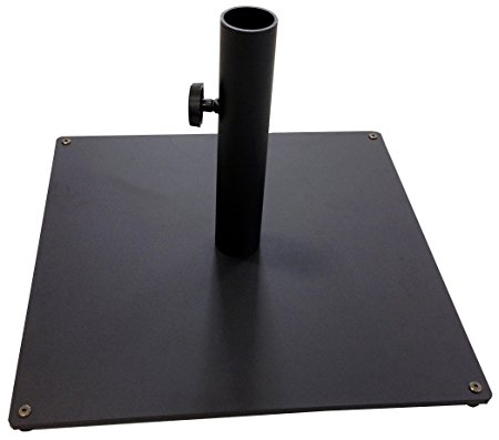 10. Tropishade Steel Plate Umbrella Base, 36 lbs, Black