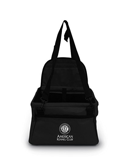 3. American Kennel Club Pet Booster Seat in Black