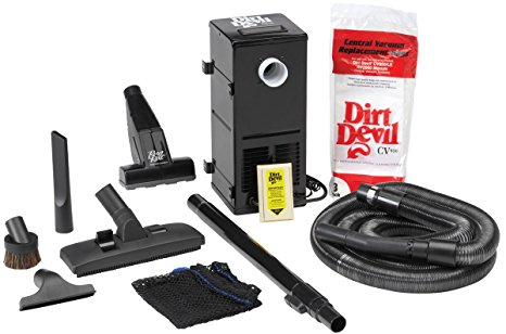 5. H-P Products 9614 Black All-in-One Central Vacuum System