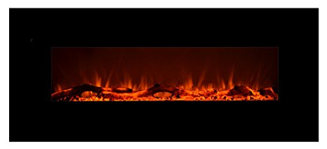 1. Touchstone 80001 Onyx Wall Mounted Electric Fireplace