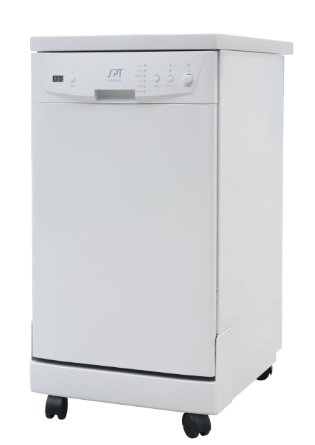 9. SPT SD-9241W Energy Star Portable Dishwasher, 18-Inch (white)