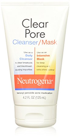 10. Neutrogena Clear Pore Facial Cleanser/Mask