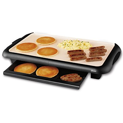 8. Oster CKSTGRFM18W-ECO DuraCeramic Griddle with Warming Tray