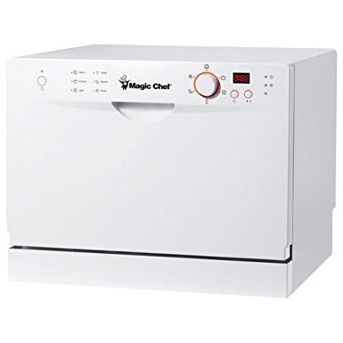 6. Magic Chef MCSD6W3 6 Place Setting Countertop Dishwasher (White)