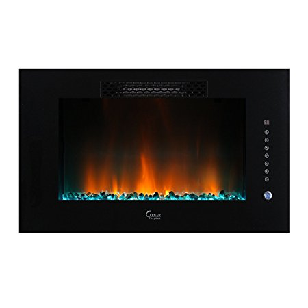 7. Caesar Luxury Linear Wall Mount Recess Freestanding Multi-color Flame Electric Fireplace