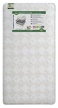 8. Serta Tranquility Eco Firm Crib and Toddler Mattress