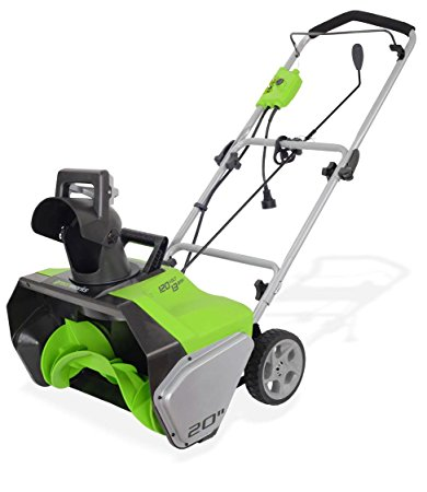 8. GreenWorks 2600502 13 Amp 20-Inch Corded Snow Thrower