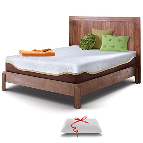 8. Live & Sleep Resort Elite Queen-Size 10-Inch Cooling Medium-Firm Gel Memory Foam Mattress