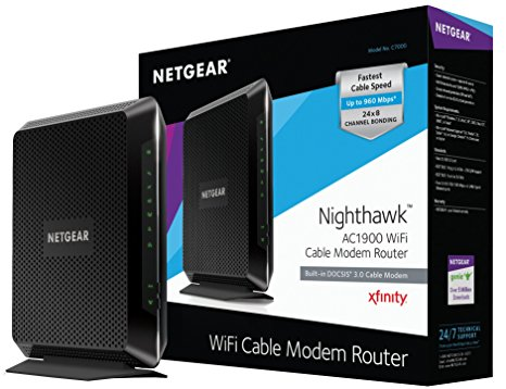 5. NETGEAR Nighthawk AC1900 (24x8) DOCSIS 3.0 WiFi Cable Modem Router