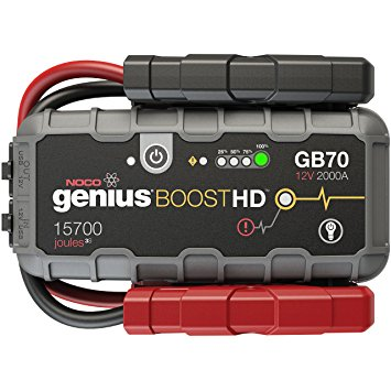 10. NOCO Genius Boost HD GB70 2000 Amp 12V UltraSafe Lithium Jump Starter