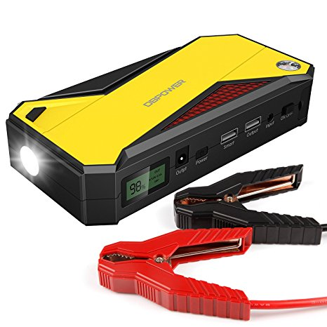 6. DBPOWER 600A Peak 18000mAh Portable Car Jump Starter