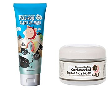 5. Hell-Pore Clean Up Nose Mask + Carbonated Bubble Clay Mask