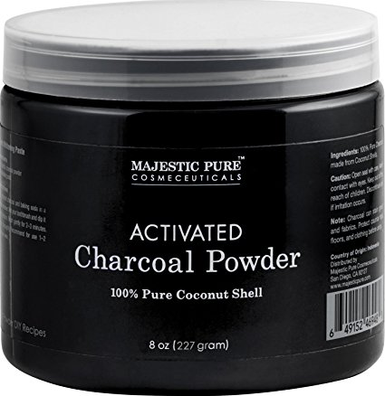 5. Majestic Pure Activated Charcoal Powder