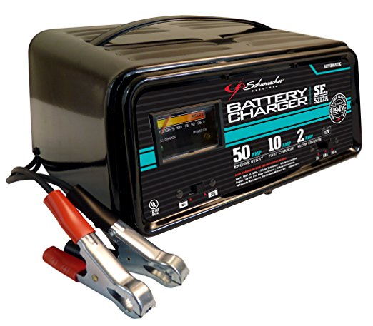 5. Schumacher SE-5212A 2/10/50 Amp Automatic Handheld Battery Charger