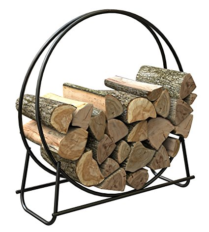 3. Panacea 15209 40-Inch Tubular Steel Log Hoop