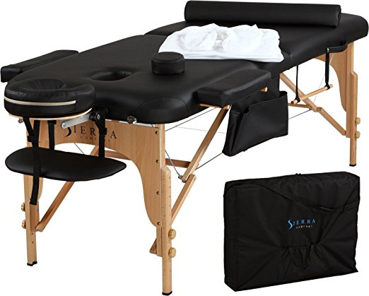1. Sierra Comfort All-Inclusive Portable Massage Table