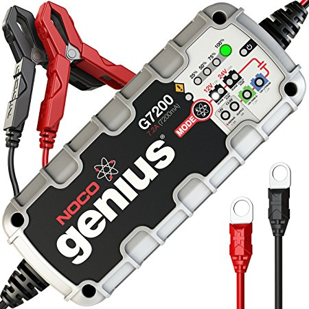 10. NOCO Genius G7200 12V/24V 7.2A UltraSafe Smart Battery Charger