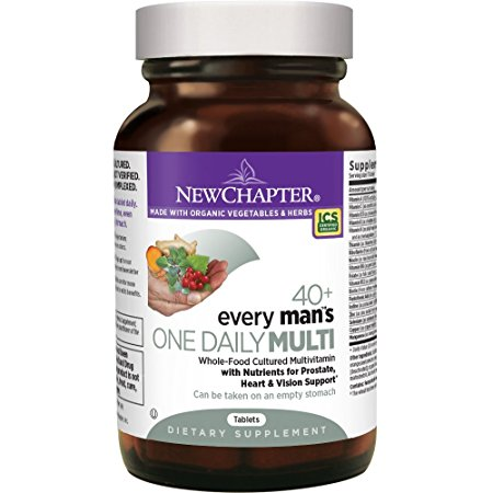 7. New Chapter Every Man's One Daily 40+, Men's Multivitamin